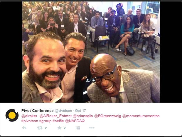 Pivotcon 2014. That's me in the upper right corner with the big hair.